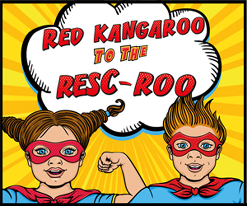 [2 Column Text and Media Block] Parents rejoice! It's RedKangaroo to the Resc-Roo!
